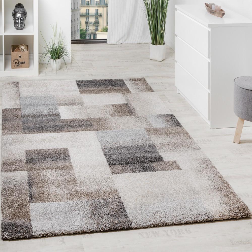 Webteppich Karo Design Meliert Wohnzimmer