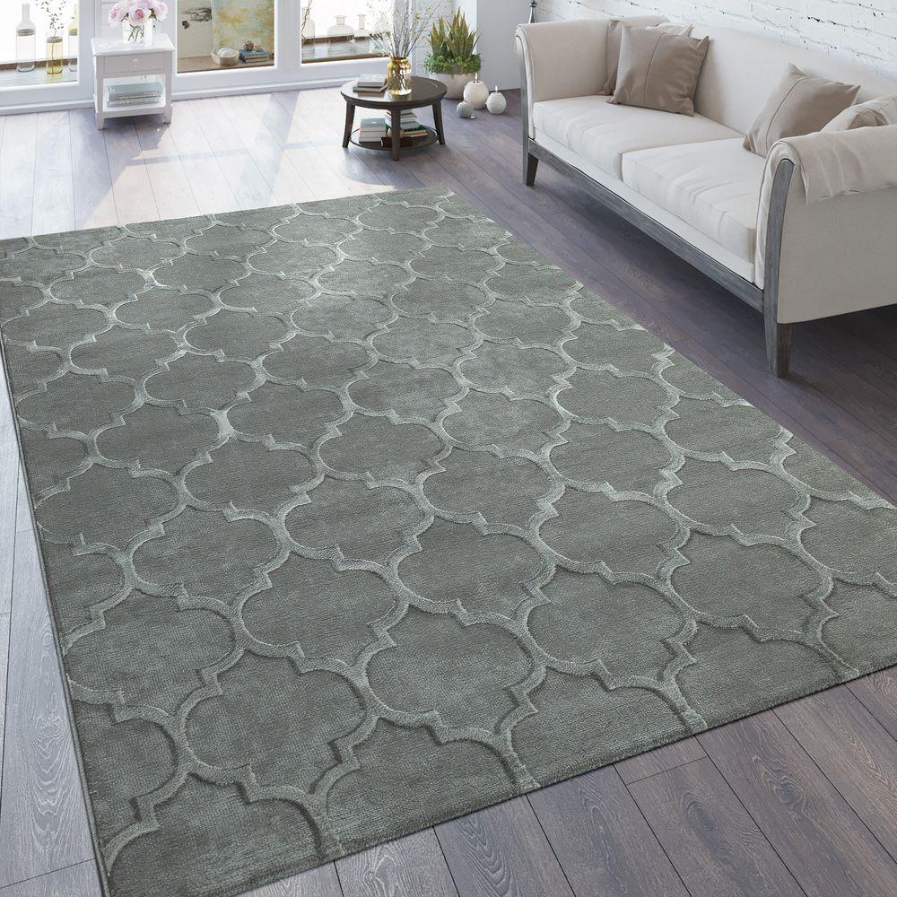Teppich Wohnzimmer 3-D Look Marokkanisches Muster