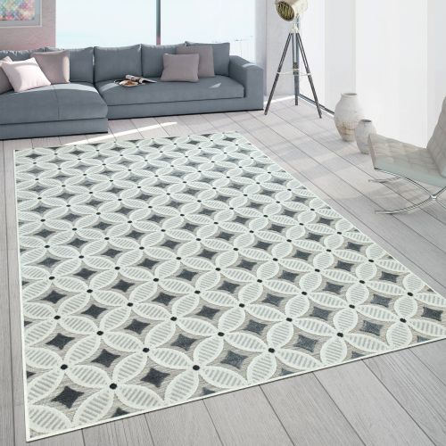 In- & Outdoor-Teppich mit Retro-Muster 3D-Web-Art