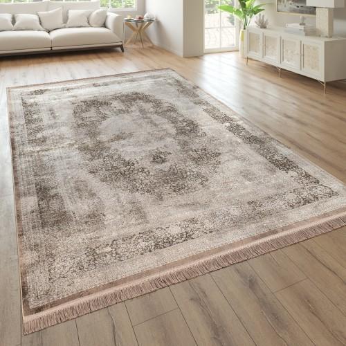 Wohnzimmer-Teppich Kurzflor Orientalisches Design