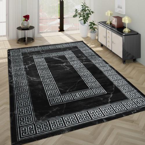 Wohnzimmer-Teppich Kurzflor Im Marmor-Design