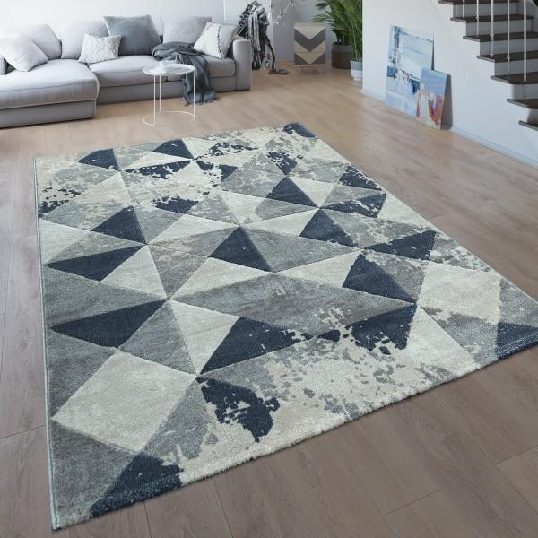 Wohnzimmer-Teppich Kurzflor Modernes Karo-Muster