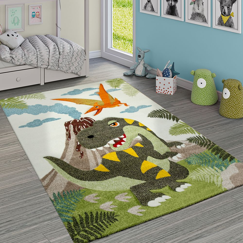 Kinderzimmer Teppich Dinosaurier Dschungel Vulkan