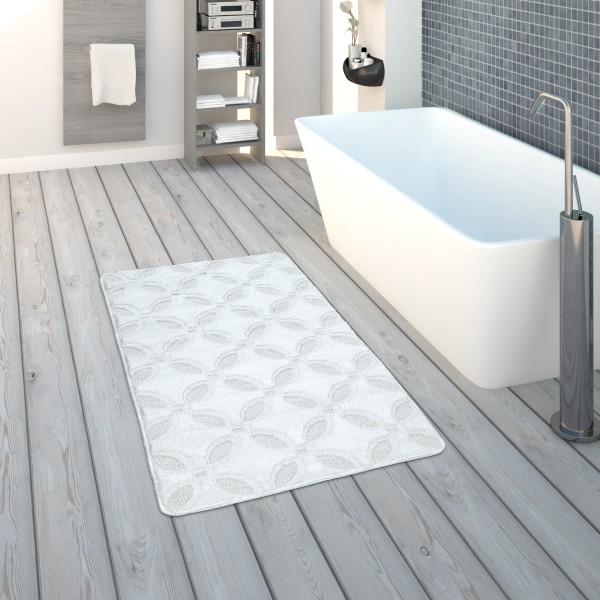 Badematte Kurzflor-Teppich Badezimmer Rutschfest