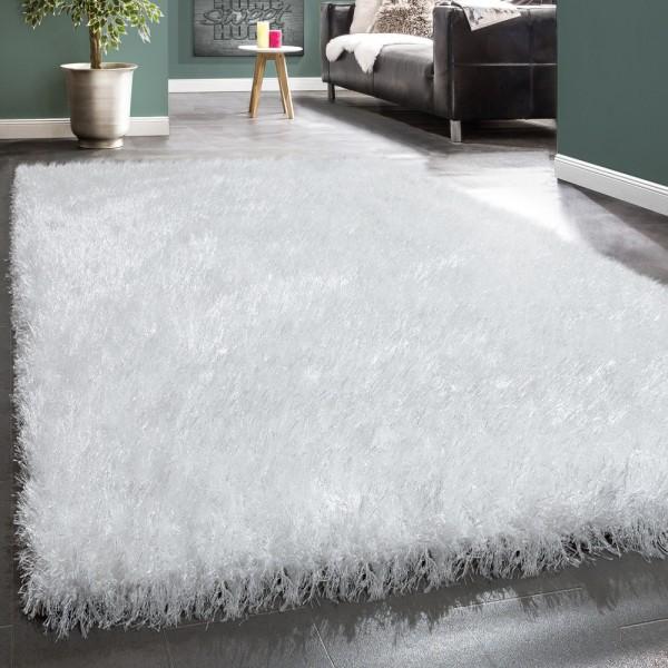 Wohnzimmer Teppich Shaggy Hochflor Soft Garn