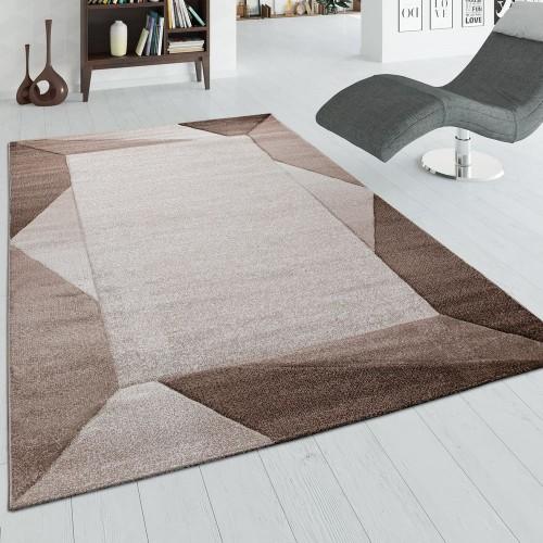 Teppich Wohnzimmer 3-D-Bordüre