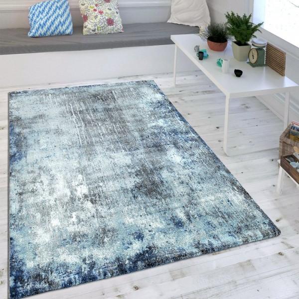 Wohnzimmer Teppich Indigo Blau Trend Modern Maritimer Stil Shabby Chic Design