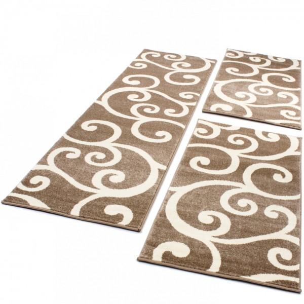 Läuferset Teppich Muster Beige Creme