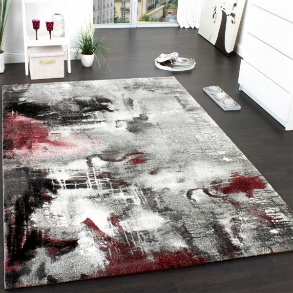 Wohnzimmer Teppich Modern Leinwand Optik Teppich De