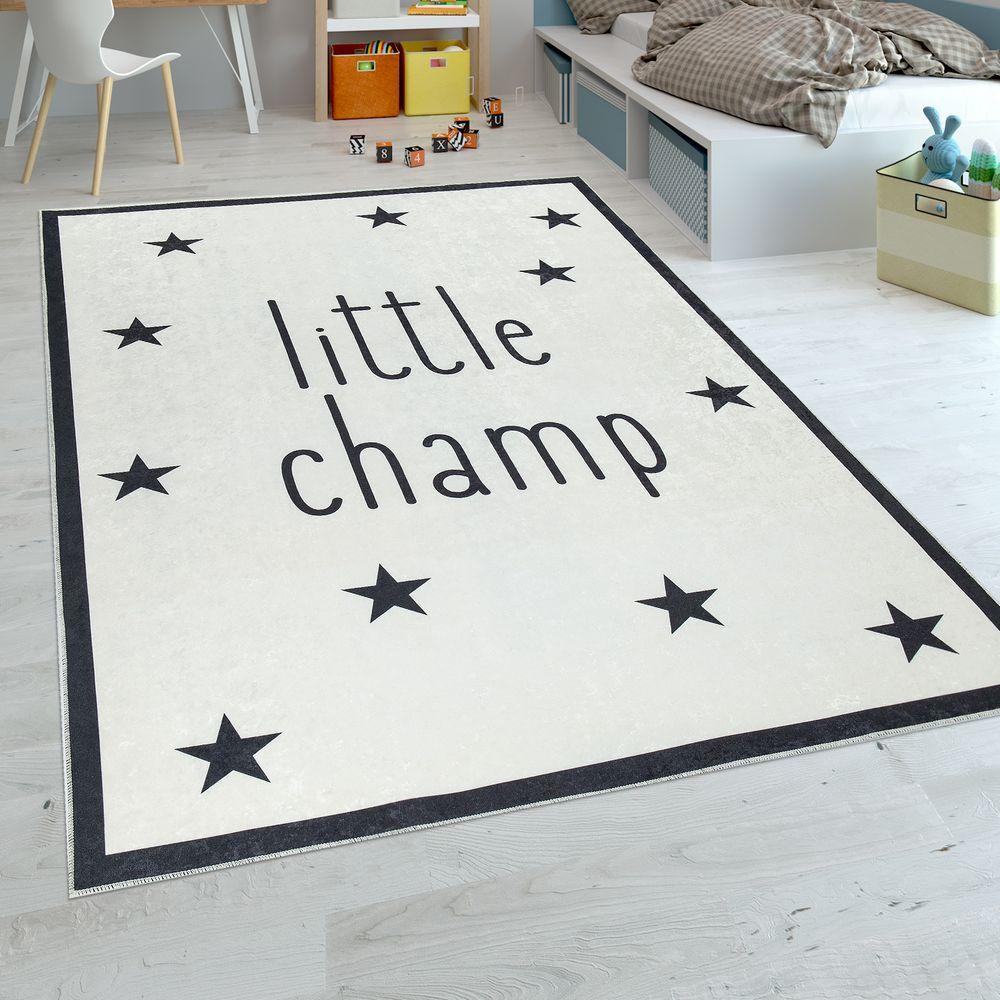 Kinderteppich Kinderzimmer Waschbar Spruch Stern