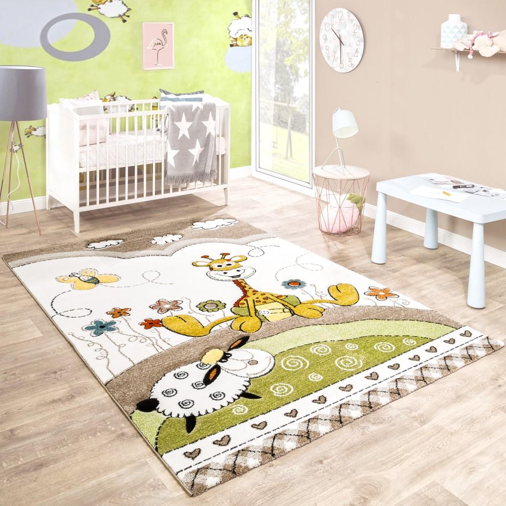 Kinderteppich Kinderzimmer 3-D Baby Giraffe