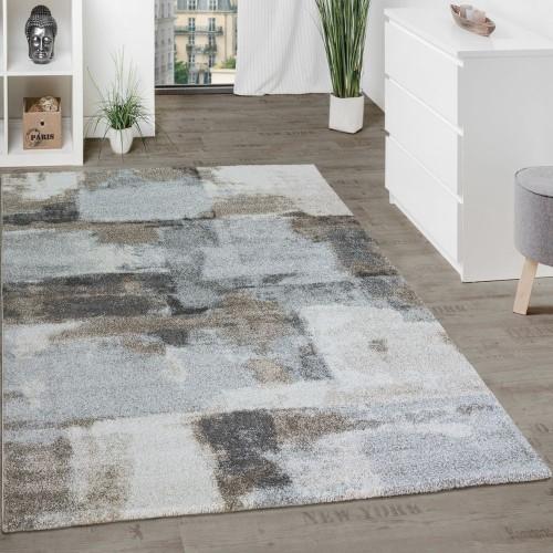 Designer Teppich Wohnzimmer Webteppich Kariert Webteppich In Grau Creme