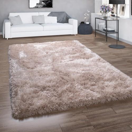 Hochflor-Teppich Wohnzimmer Shaggy Glitzer-Garn