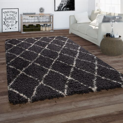 Teppich Wohnzimmer Skandi-Optik Rauten