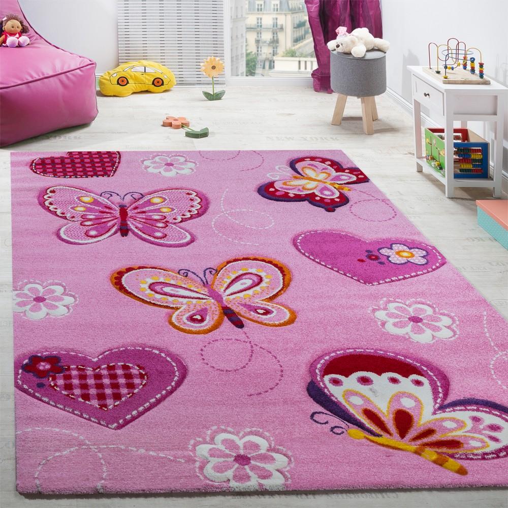 Kinderzimmer Kinderteppich Schmetterling Motive
