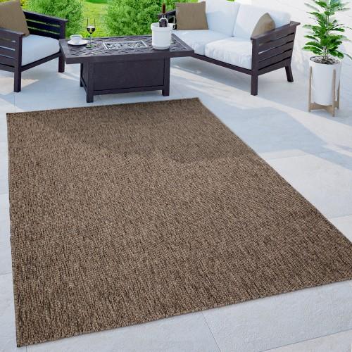 Outdoor Teppich Terrasse Muster Einfarbig Meliert