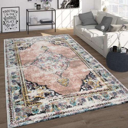 Vintage-Teppich Orient-Design Pastellfarben