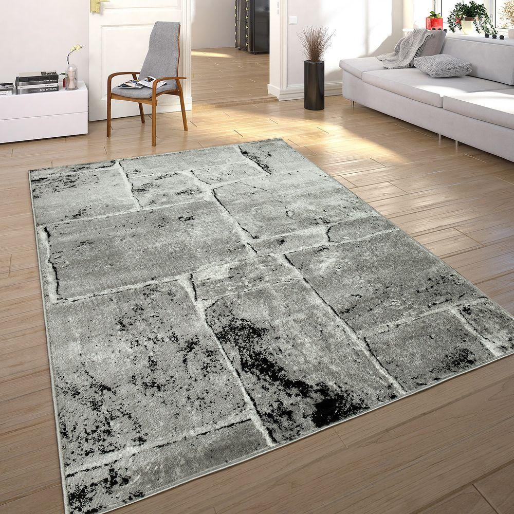 Teppich Stein Optik Mauer Muster Wohnzimmer