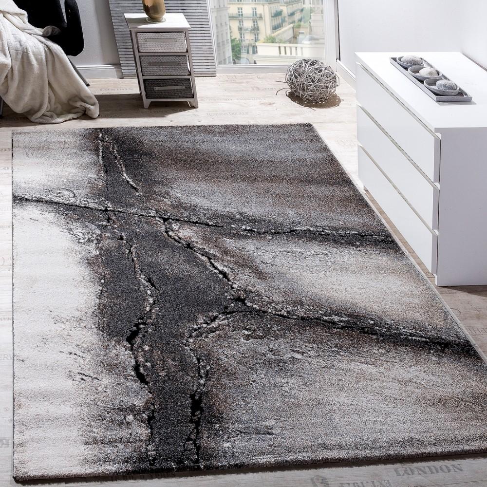 wohnzimmer teppich natur asphalt optik kurzflor