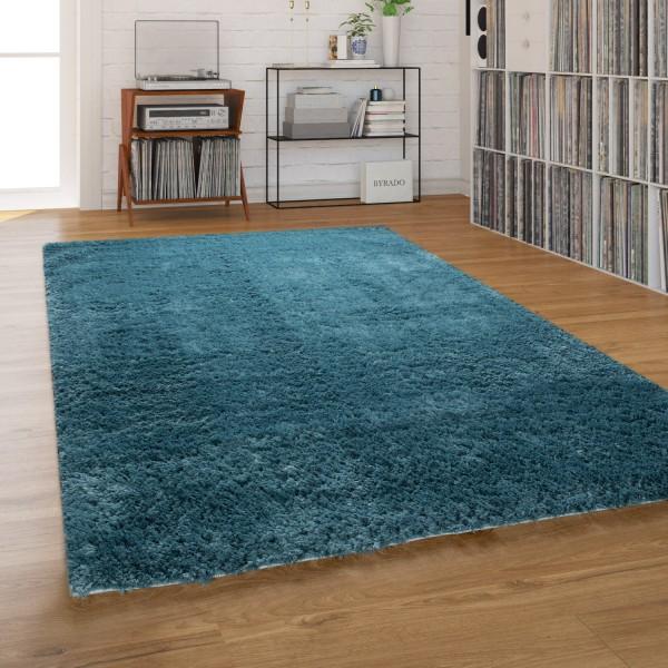 Hochflor Teppich Waschbar Shaggy Wohnzimmer