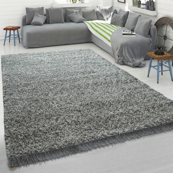 Teppich Wohnzimmer Hochflor Shaggy Weich Kuschelig