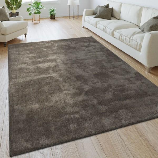 Handgemachter Teppich Super Soft Taupe
