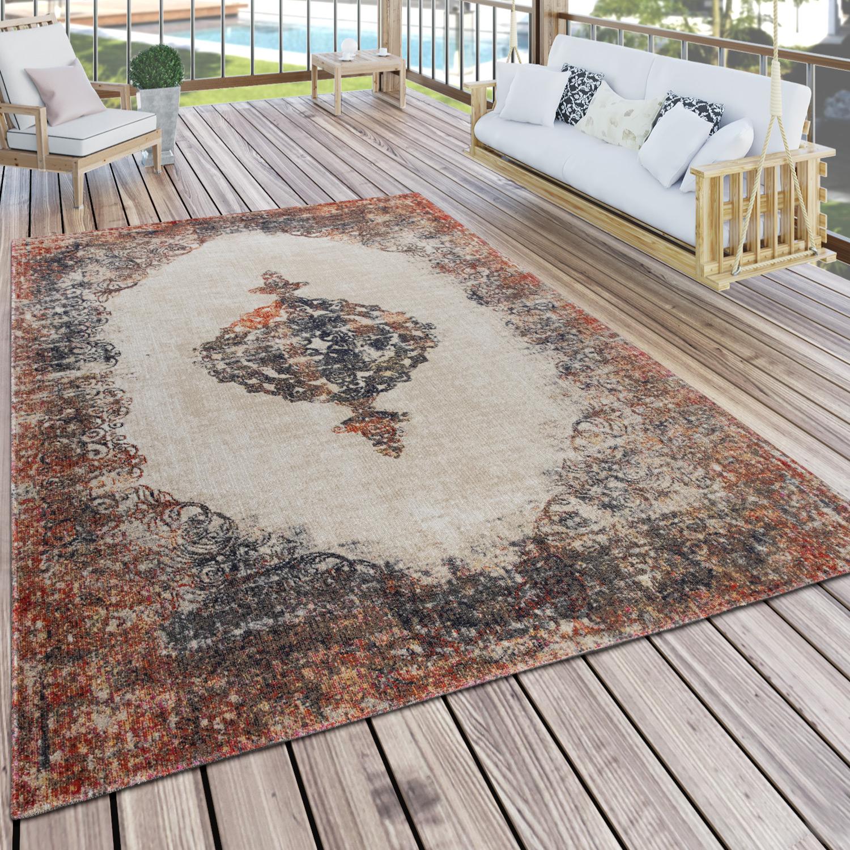 In  & Outdoor Teppich Für Terrassen Orientalisch