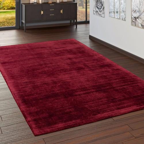 Wohnzimmer Teppich Handgefertigt Viskose Vintage