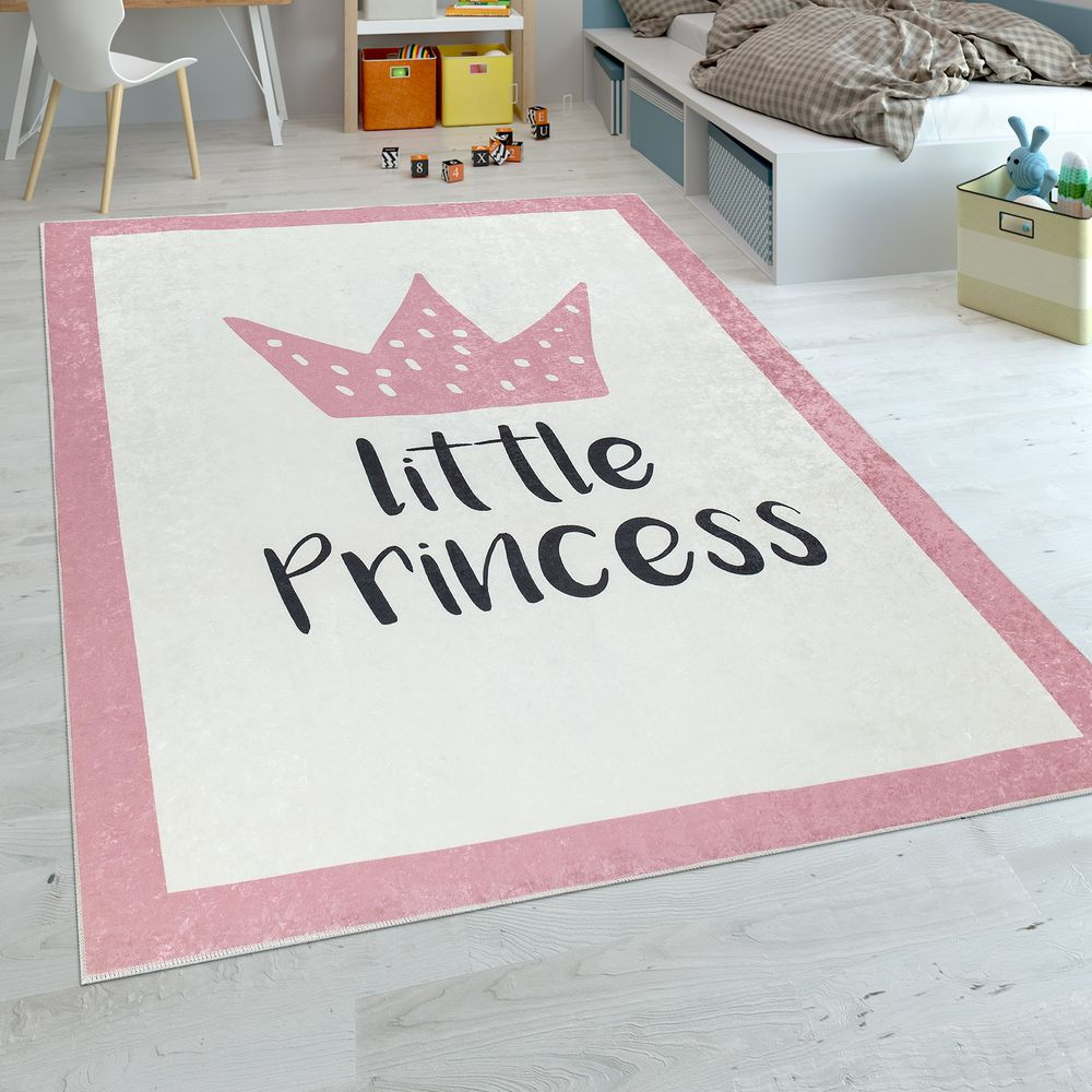 Spielteppich Kinderzimmer Prinzessin Motiv Spruch