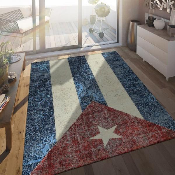 Flachgewebe Teppich Kubanische Flagge