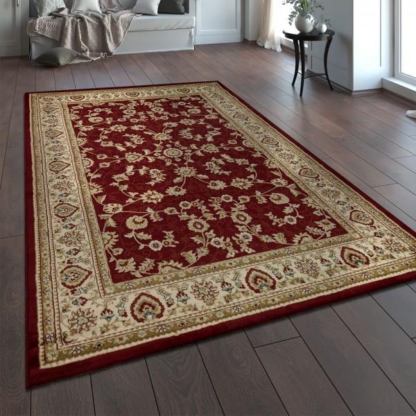 Orientteppich Traditionell Klassische Optik Persisch Floral Rot Beige Creme