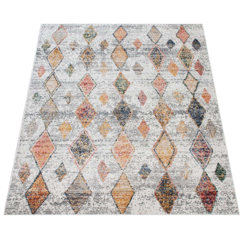 Teppich Wohnzimmer Vintage Ethno Muster Modern | teppich.de