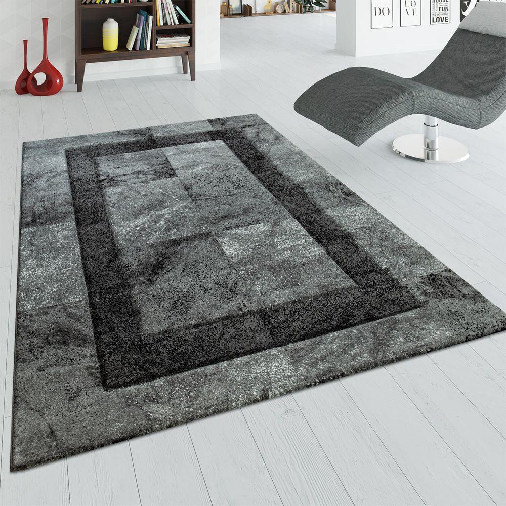 Teppich Wohnzimmer 3-D Marmor Design Karo Muster