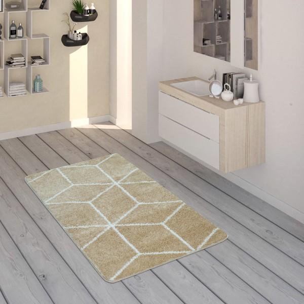 Badematte Teppich Für Badezimmer Mit Rauten-Muster