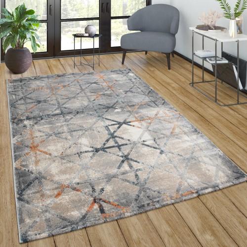 Teppich Wohnzimmer Vintage Geometrisches Muster