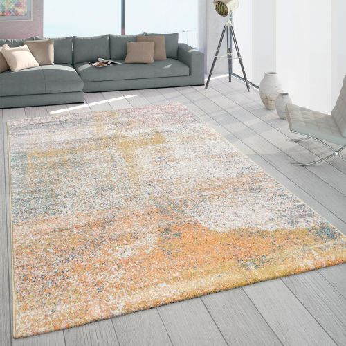 Frisé-Teppich Pastellfarben Farbverlauf