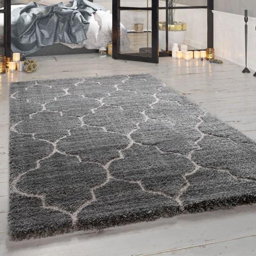 Hochflor-Teppich Wohnzimmer Orient-Design