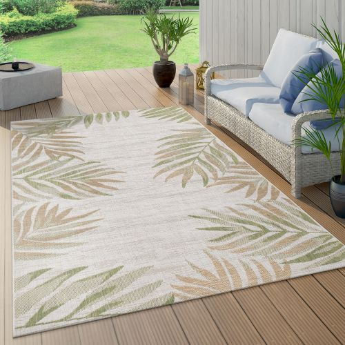 In- & Outdoorteppich Balkon Palmen Blätter Muster