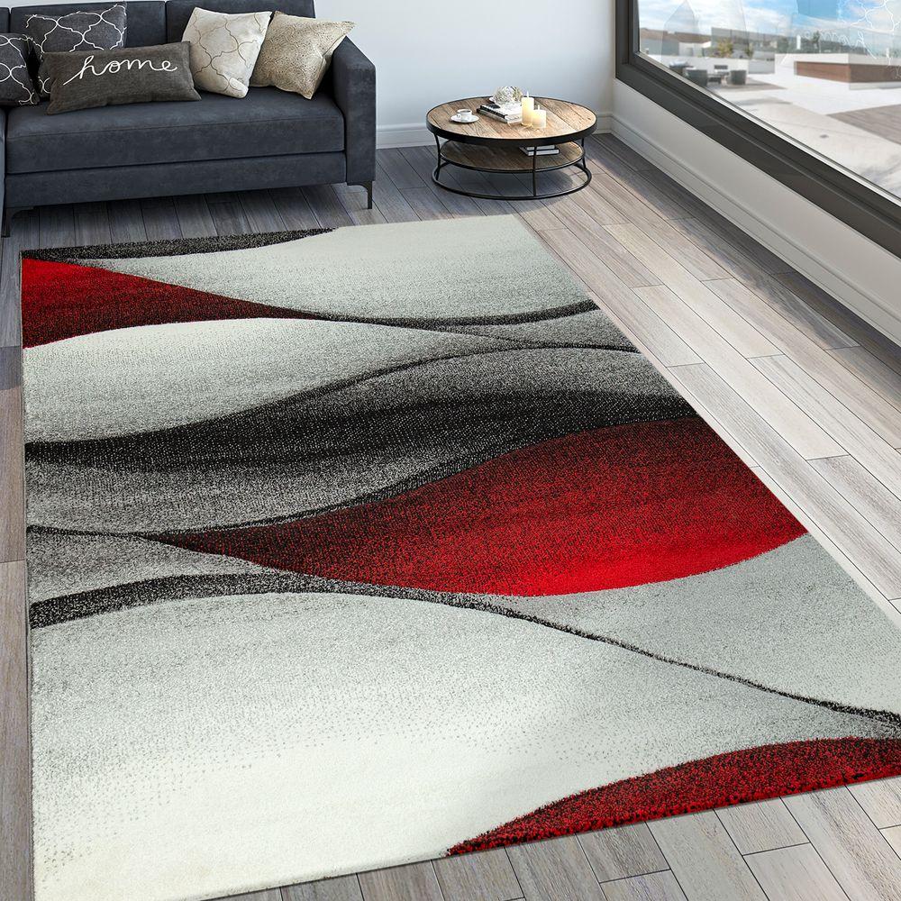 Wohnzimmer Teppich Modern 3-D Wellen Optik