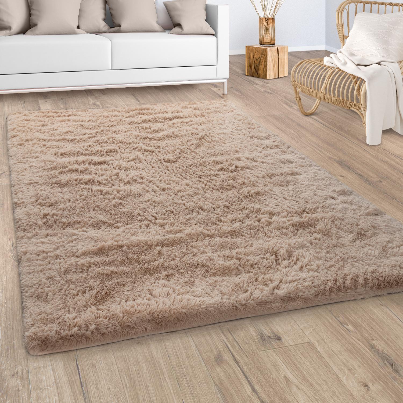 Hochflor Teppich Wohnzimmer Shaggy Flauschig Teppich De