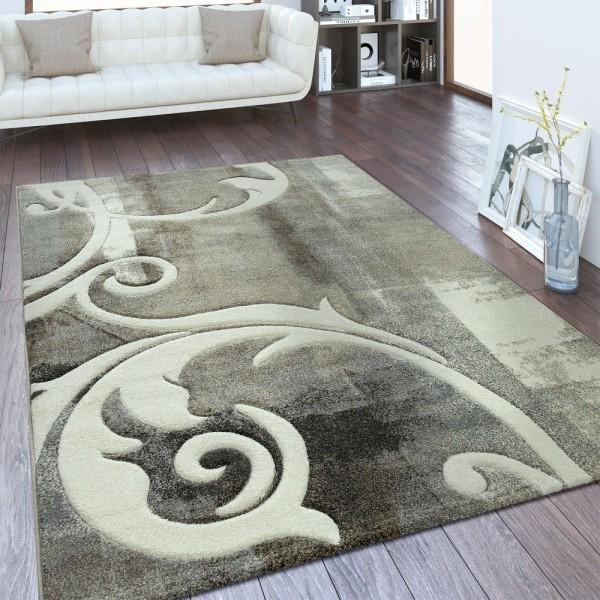 Designer Teppich Ornamente Taupe