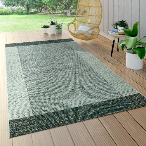 In- & Outdoor Teppich Grün Beige Web Design