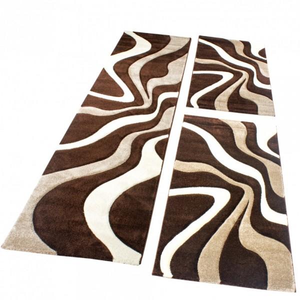 Läuferset Teppich Modern Braun