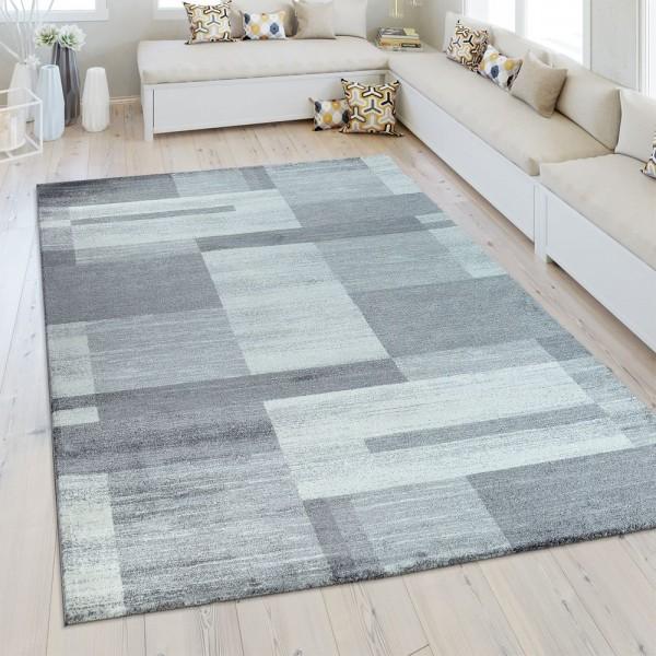 Heatset Teppich Geometrisches Muster Silber Grau