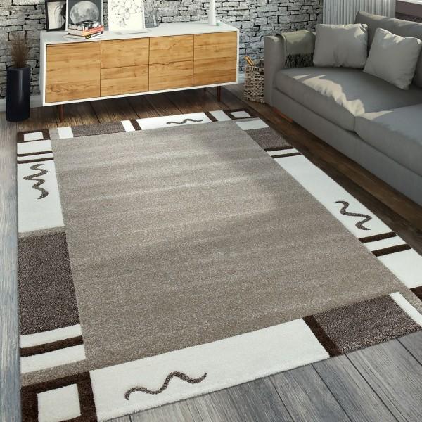 Designer Teppich Bordüre Beige Creme