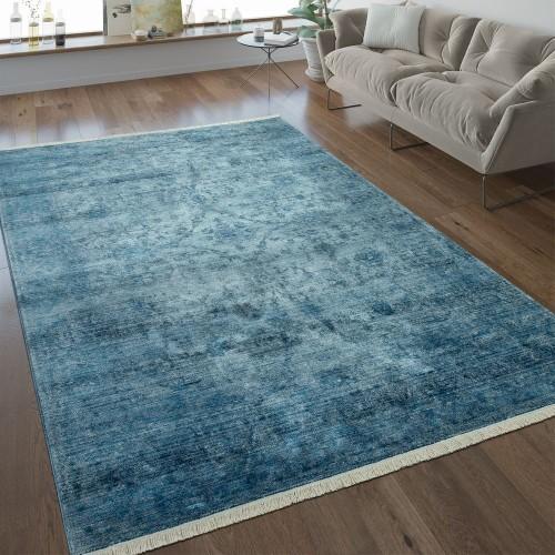 Vintage Teppich Ornamente Blau