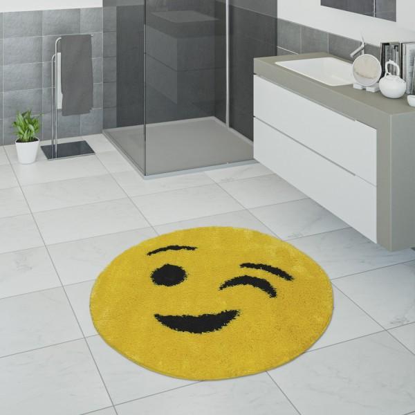Badematte Kurzflor Badezimmer Zwinkerndem Smiley