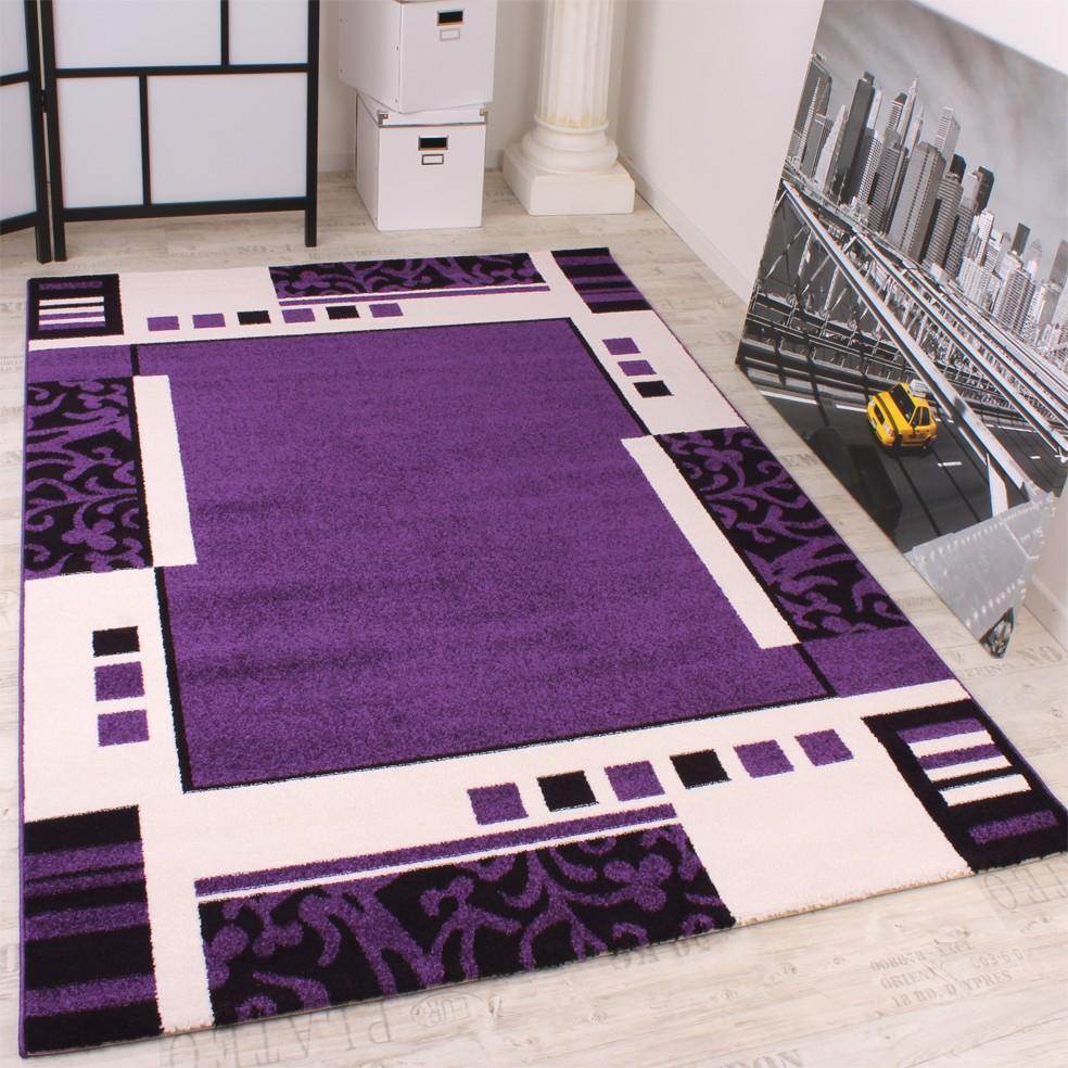 Teppich Wohnzimmer Schlafzimmer Muster Kurzflor