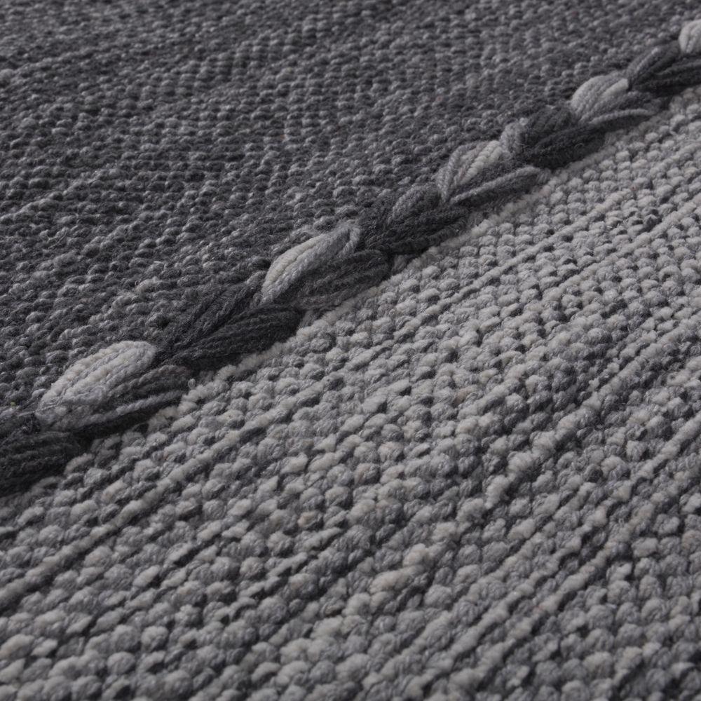 Designer Teppich Webteppich Kelim Handgewebt 100/% Baumwolle Modern Meliert Grau
