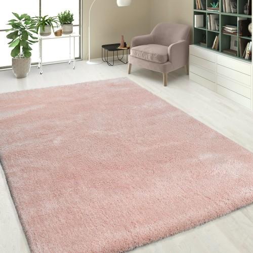 Hochflor Shaggy Teppiche Einfarbig Pink
